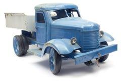 Caminhão azul do brinquedo Fotografia de Stock Royalty Free