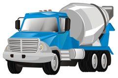 Caminhão azul do cimento ilustração stock
