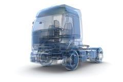 Caminhão azul do raio X Fotografia de Stock