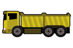 Caminhão basculante amarelo Imagem de Stock