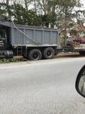 Caminhão basculante com reboque Fotos de Stock Royalty Free