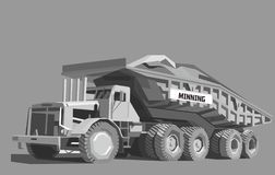 Caminhão basculante na cor cinzenta ilustração do vetor