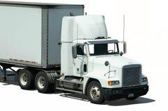 Caminhão branco Fotos de Stock