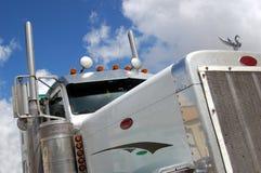Caminhão branco foto de stock