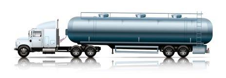 caminhão branco com petroleiro Imagens de Stock Royalty Free