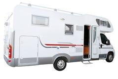 Caminhão branco do rv isolado Fotos de Stock Royalty Free