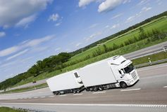 caminhão, branco e limpo Fotografia de Stock