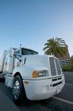 Caminhão branco em San Francisco fotografia de stock