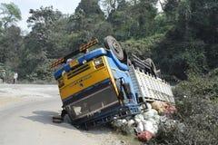 Caminhão caído imagem de stock