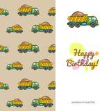 Caminhão colorido do cartão das crianças Fotos de Stock Royalty Free