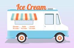 Caminhão colorido do gelado Fotos de Stock