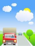 Caminhão com excitador ilustração stock
