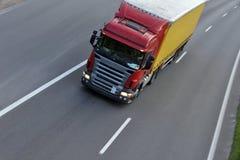 Caminhão com frete Imagem de Stock Royalty Free