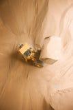 Caminhão com grânulo de madeira Fotos de Stock Royalty Free