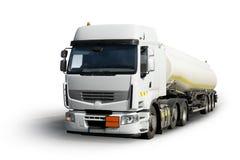 Caminhão com o depósito de gasolina isolado Fotos de Stock Royalty Free