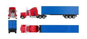 Caminhão com recipiente de carga fotos de stock royalty free