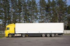 Caminhão comercial Fotografia de Stock Royalty Free