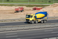 Caminhão concreto Imagem de Stock Royalty Free