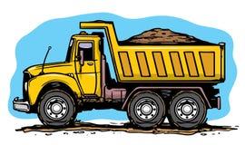 Caminhão da areia ilustração royalty free