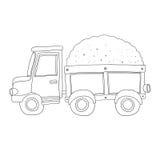 Caminhão da areia do vetor para o livro para colorir Imagem de Stock