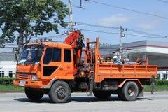 Caminhão da autoridade provincial do eletricity de Tailândia imagem de stock royalty free