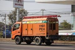 Caminhão da autoridade provincial do eletricity de Tailândia fotos de stock royalty free