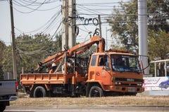 Caminhão da autoridade provincial do eletricity de Tailândia foto de stock