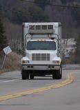 Caminhão da caixa branca Fotografia de Stock Royalty Free