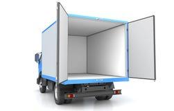 Caminhão da caixa isolado no branco Foto de Stock Royalty Free