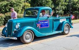 Caminhão da campanha do trunfo Imagens de Stock Royalty Free