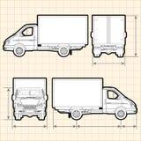 Caminhão da carga da entrega Fotografia de Stock