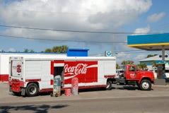 Caminhão da coca-cola Foto de Stock