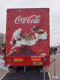 Caminhão da coca-cola em Blackpool Fotos de Stock Royalty Free