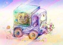 Caminhão da criança ilustração stock