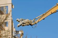 Caminhão da demolição na ação Fotografia de Stock Royalty Free