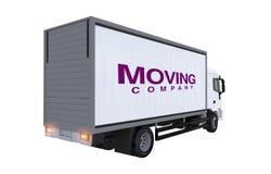 Caminhão da empresa de mudanças ilustração stock