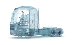 Caminhão da malha no branco Fotografia de Stock