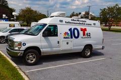 Caminhão da notícia 10 do NBC Imagens de Stock