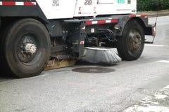 Caminhão da vassoura de rua Foto de Stock Royalty Free