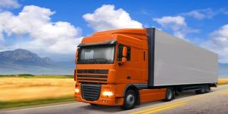 Caminhão DAF na estrada Foto de Stock Royalty Free