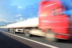 Caminhão de alta velocidade Imagens de Stock