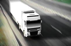 Caminhão de alta velocidade Fotografia de Stock