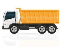 Caminhão de caminhão basculante para a ilustração do vetor da construção Fotografia de Stock