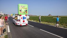 Caminhão de Carrefour Fotos de Stock