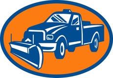 Caminhão de coletor do arado de neve Imagem de Stock Royalty Free