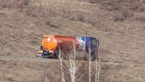 Caminhão de combustível video estoque