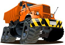 Caminhão de descarga 6x6 dos desenhos animados Foto de Stock Royalty Free