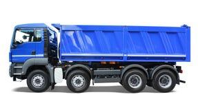 Caminhão de descarga azul foto de stock royalty free
