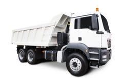 Caminhão de descarga branco Fotografia de Stock