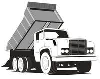Caminhão de descarga simples ilustração stock